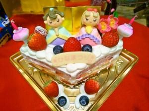 3色おひな様ケーキ