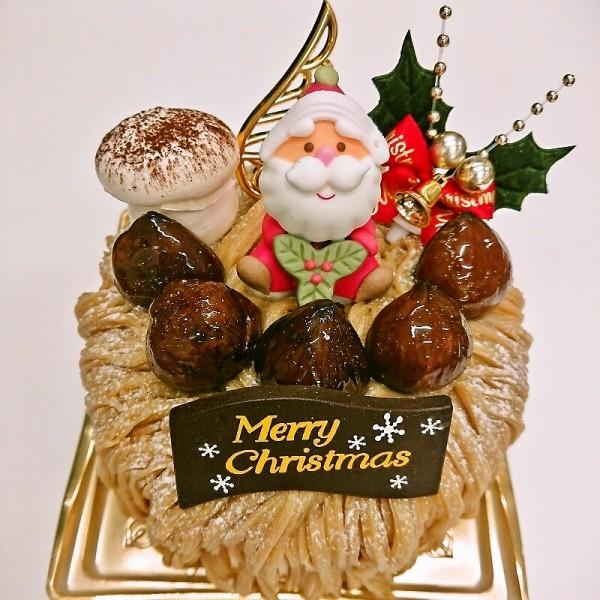 和栗のモンブランクリスマス