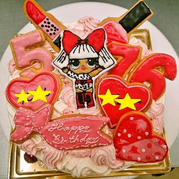 アイシングクッキーケーキ