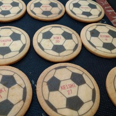 サッカーボールクッキー