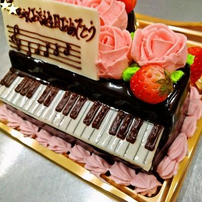 ピアノケーキ1枚目